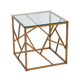 China Home Furniture New Design Modern Clear Glass Top Side Tables for Living Room