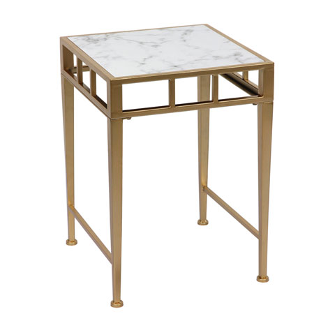 Italian Modern Square White Faux Marble Top Coffee Tables For Sale