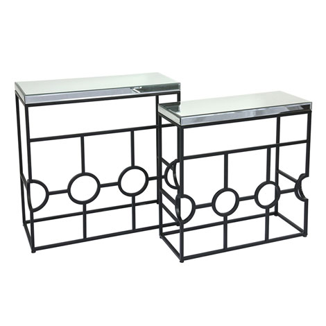 French Style Metal Legs Gl Top Hall